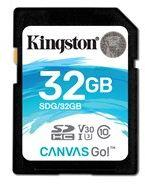Karta pamięci Kingston 32GB SDHC Canvas Go 90R/45W CL10 U3 V30 (SDG/32GB)
