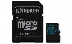 Karta MicroSD Kingston 32GB microSDHC Canvas Go 90R/45W U3 UHS-I V30 Card + SD Adapter (SDCG2/32GB)