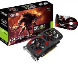 Karta graficzna Asus GeForce GTX 1050 Cerberus OC Edition 2GB GDDR5 (128 bit), DVI-D, HDMI, DisplayPort, BOX (CERBERUS-GTX1050-O2G)