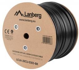 Lanberg Kabel instalacyjny UTP, CAT-6, 305m  (LCU6-20CU-0305-BK)
