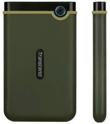 Dysk zewnętrzny Transcend HDD 25M3G 1 TB Czarno-zielony (TS1TSJ25M3G)
