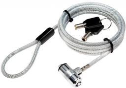 Linka zabezpieczająca LogiLink kluczyk, 1,8m do ultrabooka (NBS009)