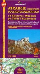 Atrakcje pogranicza polsko-słow. mapa 1:100 000