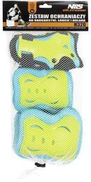 NILS Extreme Zestaw ochraniaczy H320 niebiesko-limonkowy r. L