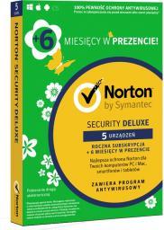 Symantec Norton Security Deluxe 5 urządzeń 1 rok + 6 miesięcy GRATIS (21382284)