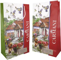 Carmani Village life Torebka na komplet 4 kubków