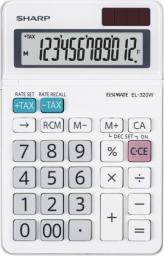 Kalkulator Sharp EL320W biurkowy, 12 miejsc, biały