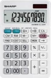 Kalkulator Sharp EL330W, biurkowy, 10 miejsc, biały