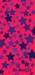 DRBACTY Ręcznik Stars różowy 60x130 cm (DRC-L-STARS)