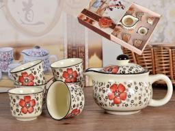 SAGRADO Zestaw do herbaty czajnik + 6 czarek (846-3091)