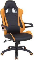 Halmar MUSTANG fotel gabinetowy czarno-pomarańczowy