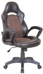 Halmar LIZARD fotel gabinetowy czarno - brązowy