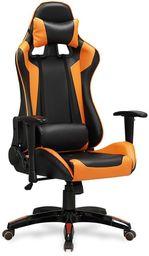 Halmar DEFENDER fotel gabinetowy czarno-pomarańczowy