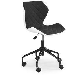 Halmar MATRIX fotel młodzieżowy biały/czarny