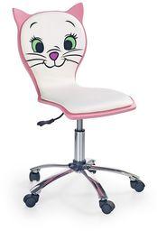 Halmar KITTY 2 fotel młodzieżowy biało-różowy