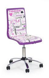Halmar fotel młodzieżowy fioletowy