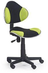 Halmar FLASH fotel młodzieżowy czarno-zielony