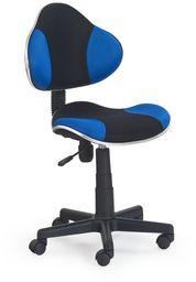 Halmar FLASH fotel młodzieżowy czarno-niebieski