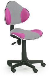 Halmar FLASH 2 fotel młodzieżowy szaro-różowy