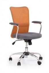 Halmar ANDY fotel młodzieżowy pomarańczowo-szary