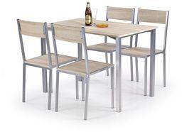 Halmar Zestaw Ralph stół i 4 krzesła dąb sonoma