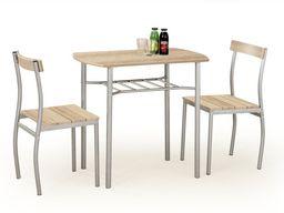 Halmar Zestaw Lance stół i 2 krzesła dąb sonoma