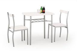 Halmar Zestaw LANCE  Stół + 2 krzesła, biały