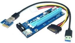 Qoltec Riser PCi-E 1x - 16x   USB 3.0 (55500)