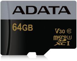 Karta MicroSD ADATA Premier Pro microSDXC 64GB UHS-I U3 C10 (AUSDX64GUI3V30G-RA1)