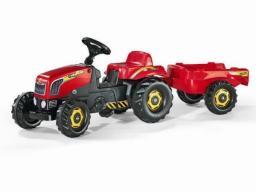 Rolly Toys Traktor Rolly Kid czerwony z przyczepą  (5012121)