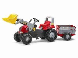 Rolly Toys Traktor Junior czerwony z łyżką i przyczepą  (5811397)