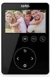 Zamel Wideomonitor z dotykowymi przyciskami 4,3 cala czarny VP-816B (ENT10000405)