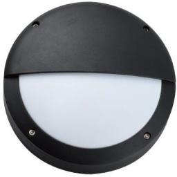 LAMPRIX Plafoniera zewnętrzna obudowa z odlewanego aluminium klosz mleczny PC bez źródła światła IP54 (LP-14-059)