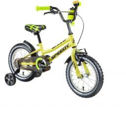 """DHS Rower dziecięcy Speedy 1601 16"""" Żółty"""
