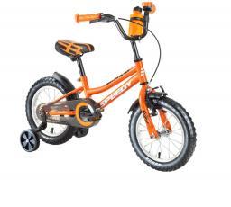 """DHS Rower dziecięcy Speedy 1601 16"""" pomarańczowy"""