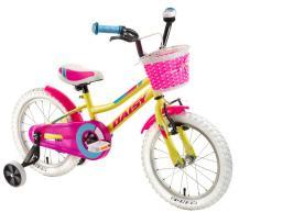 """DHS Rower dziecięcy Daisy 1602 16"""" żółty"""