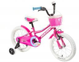"""DHS Rower dziecięcy Daisy 1602 16"""" różowy"""
