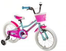 """DHS Rower dziecięcy Daisy 1602 16"""" Turkusowy"""