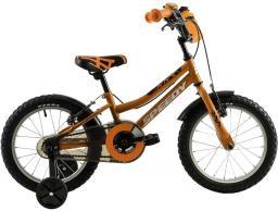 """DHS Rower dziecięcy Speedy 1603 16"""" pomarańczowy"""