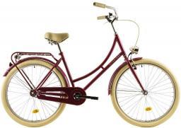 DHS Rower miejski Citadinne 2632 26''  Ciemno-różowy (218263224612)