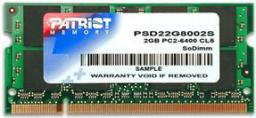 Pamięć do laptopa Patriot DDR2 SODIMM 2GB 800MHz CL6 (PSD22G8002S)