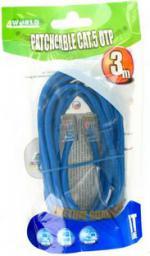 4World kabel krosowy RJ45, bez osłonki, Cat. 5e UTP, 3 m, niebieski  (04719)