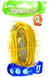 4World kabel sieciowy RJ45, bez osłonki, Cat. 5e UTP, 3 m, żółty (04731)
