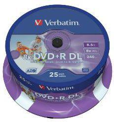 Verbatim DVD+R DL 8x 8.5GB (Cake 25) PRINTABLE