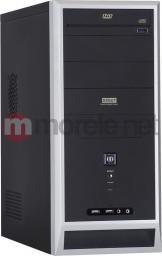 Obudowa MODECOM MODECOM, Obudowa komputerowa DEBUT Midi Tower ATX 400W, 2x USB, 2x Audio (czarno-srebrna) (DEBUT black+silver 400W PREMIUM) - C8300456