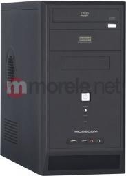 Obudowa MODECOM MODECOM, Obudowa komputerowa DEBUT Mini Tower Micro ATX 500W, 2x USB, 2x Audio (czarna) (DEBUT MINI black 500W PREMIUM) - C8300448
