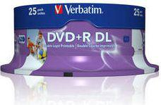 Verbatim DVD+R Double Layer Inkjet Printable 8x