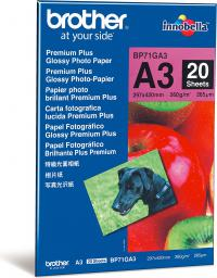 Brother papier Photo Glossy A3 (BP61GLP) 20 ark