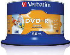Verbatim DVD-R Wide Inkjet Printable No ID Brand