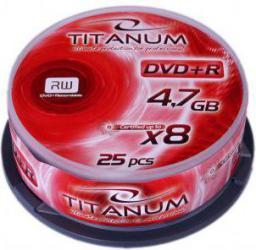 Titanum DVD+R 4.7 GB 8x 25 sztuk (E5905784762500)